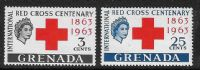 Grenada SG212-213 1963 Red Cross Centenary set 2v complete mounted mint